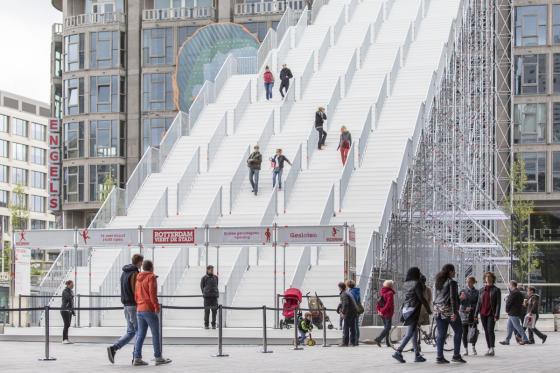 荷兰Rotterdam市中心纪念式阶梯装-荷兰Rotterdam市中心纪念式阶梯装置第13张图片