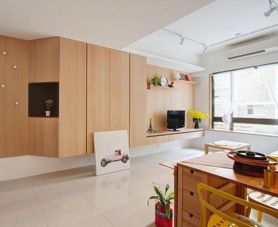 台湾丰富靓丽的灵动公寓室内实景-台湾丰富靓丽的灵动公寓第3张图片