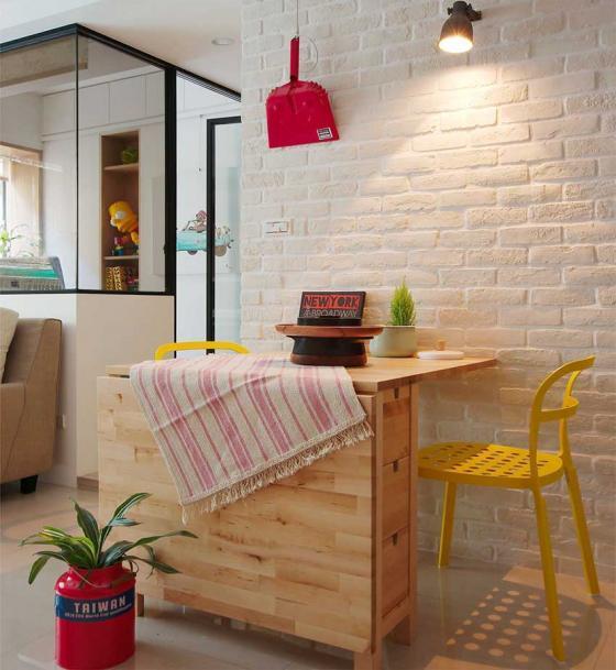 台湾丰富靓丽的灵动公寓室内实景-台湾丰富靓丽的灵动公寓第6张图片