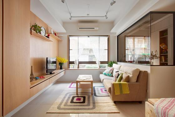 台湾丰富靓丽的灵动公寓室内实景-台湾丰富靓丽的灵动公寓第2张图片