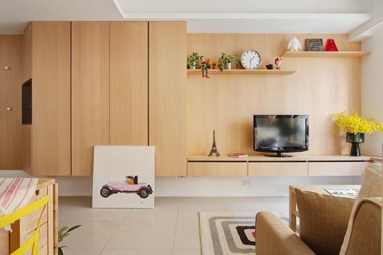 台湾丰富靓丽的灵动公寓室内实景-台湾丰富靓丽的灵动公寓第5张图片