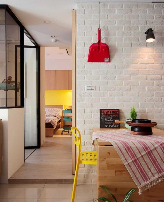 台湾丰富靓丽的灵动公寓室内实景-台湾丰富靓丽的灵动公寓第7张图片