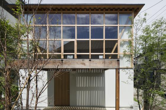 日本模块网格住宅外部实景图-日本模块网格住宅第2张图片