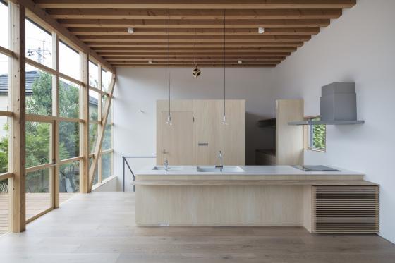 日本模块网格住宅内部实景图-日本模块网格住宅第6张图片