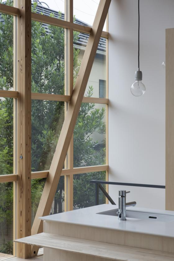日本模块网格住宅内部实景图-日本模块网格住宅第8张图片
