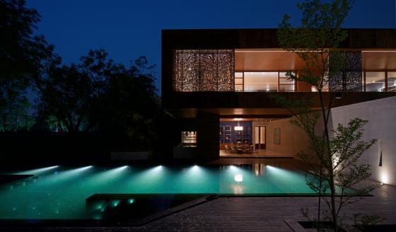 马哈拉施特拉邦DIYA住宅外部夜景-马哈拉施特拉邦DIYA住宅第9张图片
