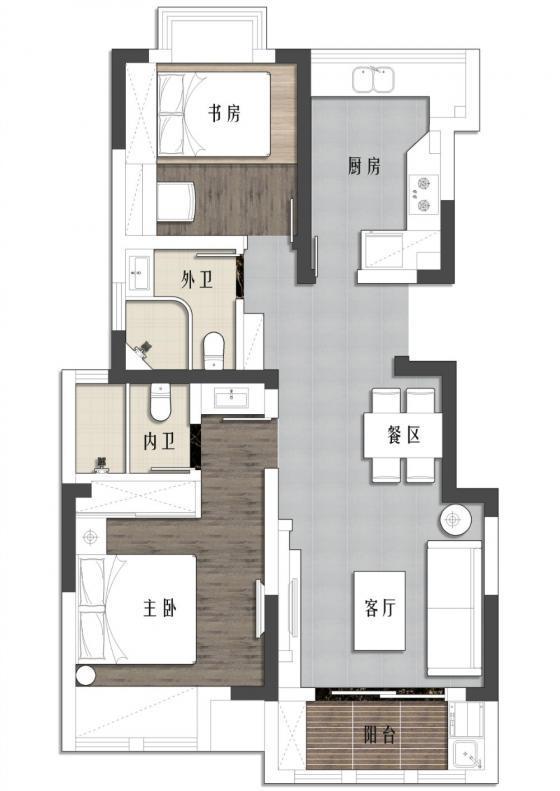 现代简洁质朴风格住宅平面图-现代简洁质朴风格住宅第18张图片