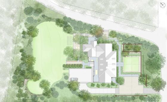 英国Chestnut山地花园平面图-英国Chestnut山地花园第7张图片
