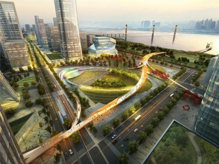 武汉滨江商务区景观规划