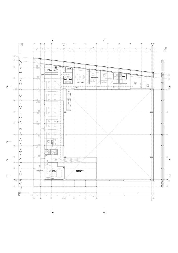 智利Proingas办公楼平面图-智利Proingas办公楼第27张图片