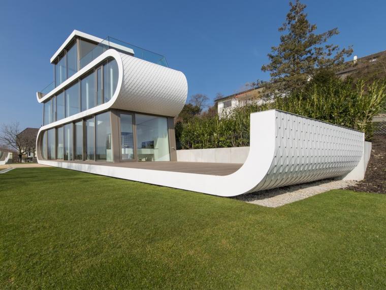 瑞士动态变化的折曲住宅