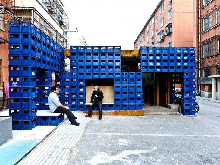 北京BEERBOX FACADE 啤酒箱小卖部