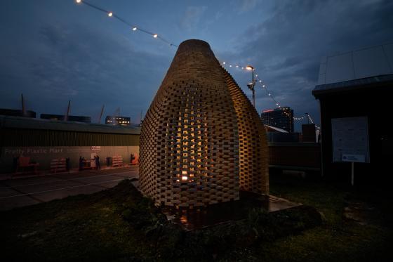 荷兰迷你篝火会场外部夜景实景图-荷兰迷你篝火会场第4张图片
