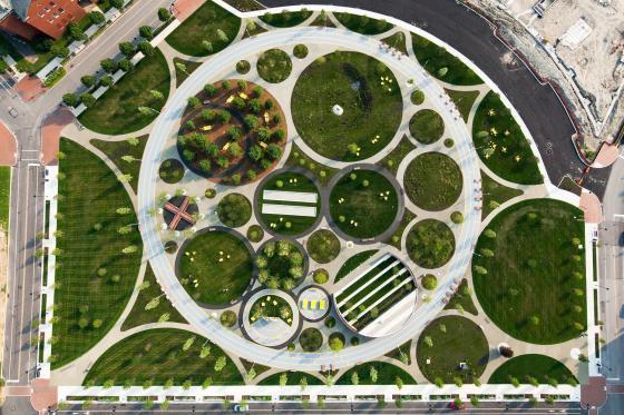美国费城环形公园外部实景图-美国费城环形公园第2张图片