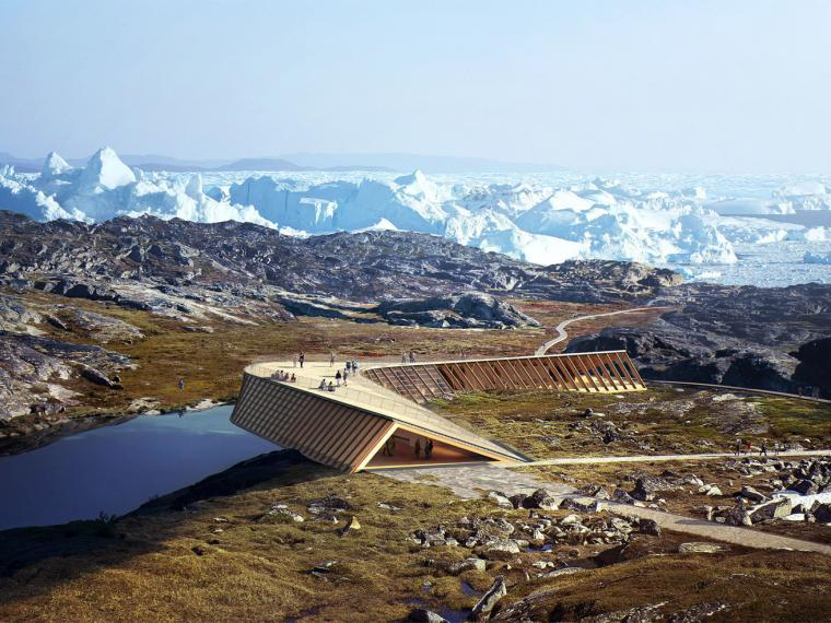丹麦格陵兰冰峡湾观景台