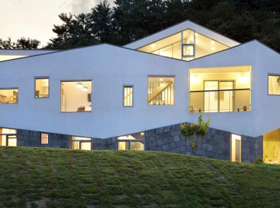韩国全景住宅外部夜景实景图-韩国全景住宅第7张图片