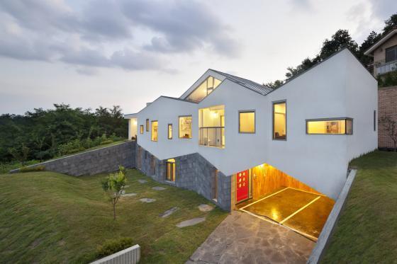 韩国全景住宅外部夜景实景图-韩国全景住宅第8张图片