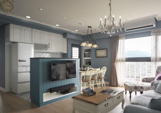 迷人灰蓝风格的住宅室内实景图-迷人灰蓝风格的住宅第4张图片