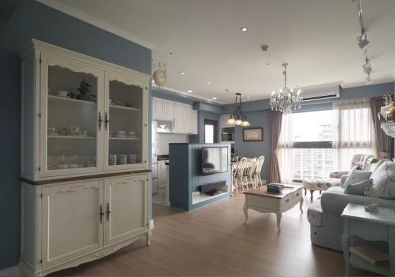 迷人灰蓝风格的住宅室内实景图-迷人灰蓝风格的住宅第3张图片