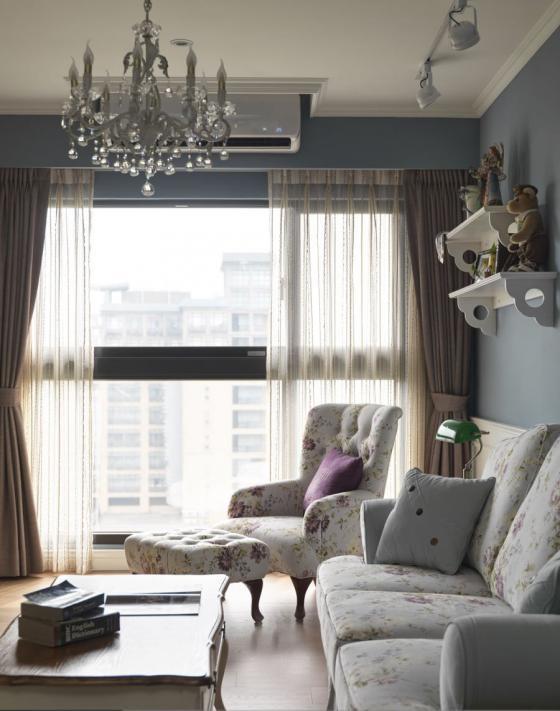 迷人灰蓝风格的住宅室内实景图-迷人灰蓝风格的住宅第5张图片