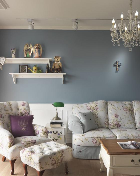 迷人灰蓝风格的住宅室内实景图-迷人灰蓝风格的住宅第7张图片