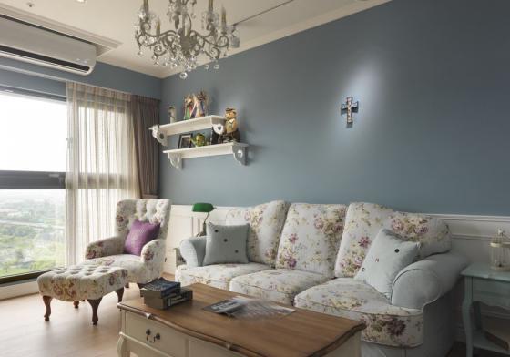 迷人灰蓝风格的住宅室内实景图-迷人灰蓝风格的住宅第6张图片