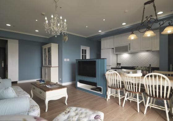 迷人灰蓝风格的住宅室内实景图-迷人灰蓝风格的住宅第8张图片