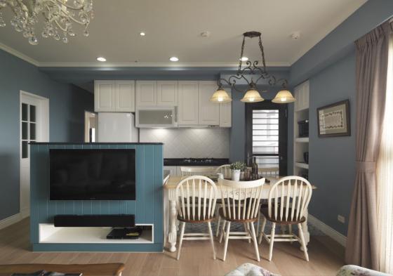 迷人灰蓝风格的住宅室内实景图-迷人灰蓝风格的住宅第9张图片