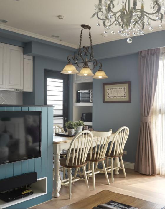 迷人灰蓝风格的住宅室内实景图-迷人灰蓝风格的住宅第10张图片