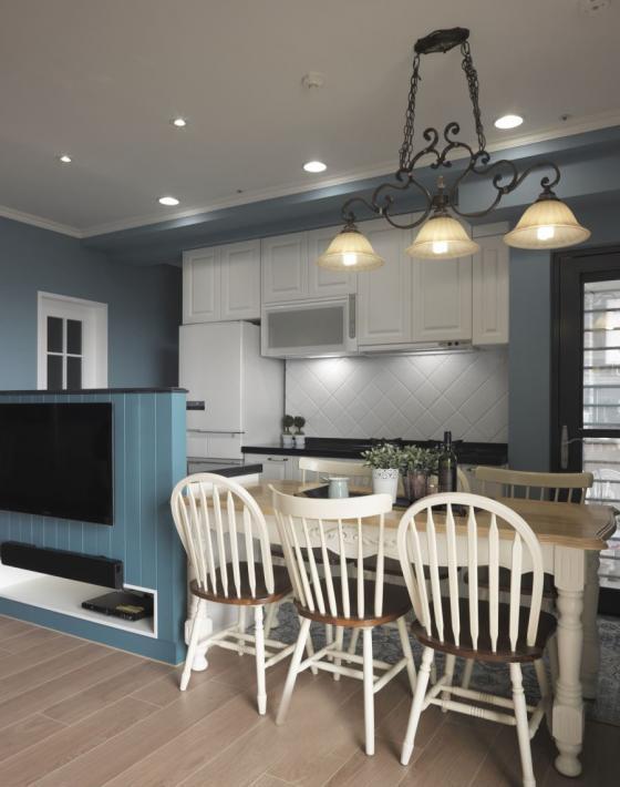 迷人灰蓝风格的住宅室内实景图-迷人灰蓝风格的住宅第11张图片