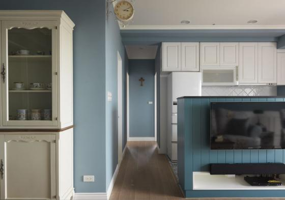 迷人灰蓝风格的住宅室内实景图-迷人灰蓝风格的住宅第12张图片