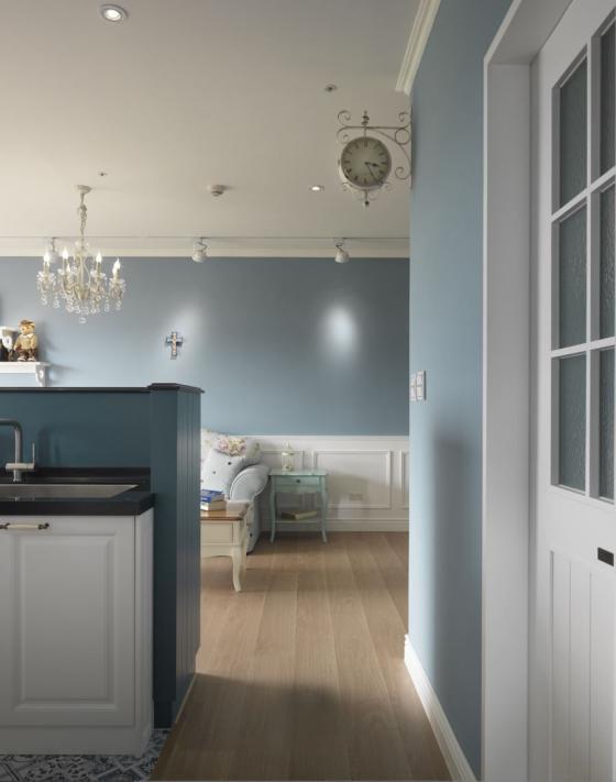 迷人灰蓝风格的住宅室内实景图-迷人灰蓝风格的住宅第13张图片