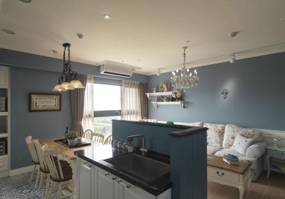 迷人灰蓝风格的住宅室内实景图-迷人灰蓝风格的住宅第15张图片