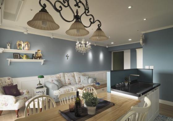 迷人灰蓝风格的住宅室内实景图-迷人灰蓝风格的住宅第17张图片