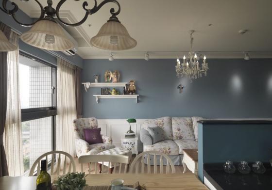 迷人灰蓝风格的住宅室内实景图-迷人灰蓝风格的住宅第16张图片