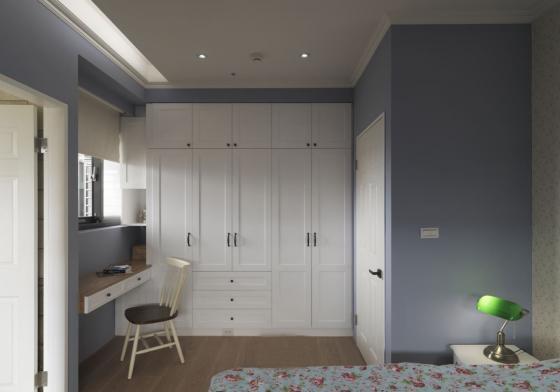 迷人灰蓝风格的住宅室内实景图-迷人灰蓝风格的住宅第20张图片
