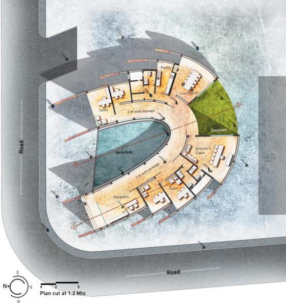 印度Crescent办公楼平面图-印度Crescent办公楼第17张图片
