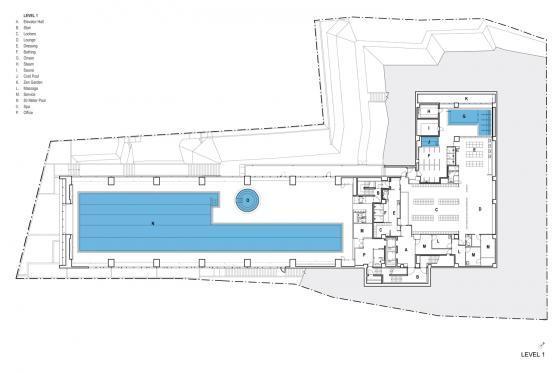 东京水上运动与水疗中心平面图-东京水上运动与水疗中心第25张图片