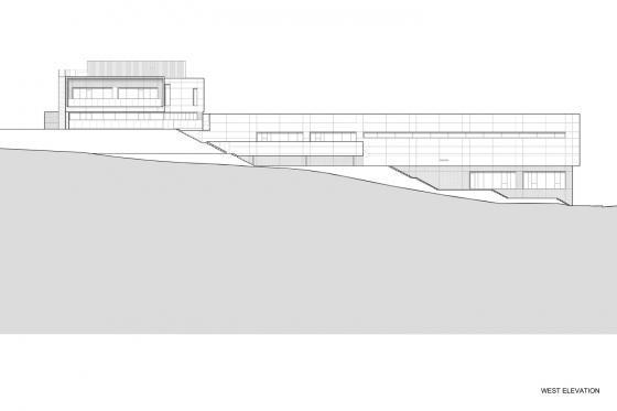 东京水上运动与水疗中心剖面图-东京水上运动与水疗中心第33张图片