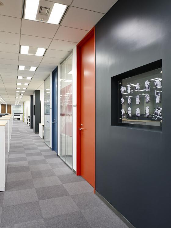 日本NBC环球公司办公室室内实景图-日本NBC环球公司办公室第5张图片