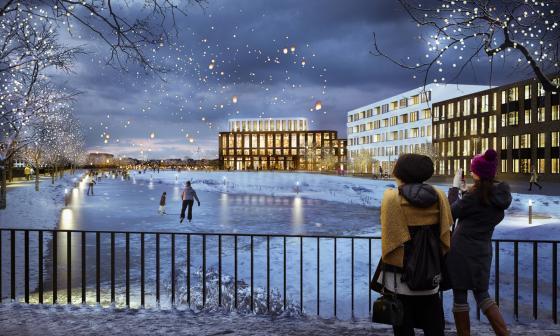 俄罗斯Kazan市住宅区景观效果图-俄罗斯Kazan市住宅区景观第5张图片
