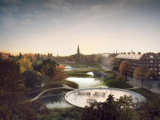 丹麦Hans公园及其周边环境的改造第1张图片