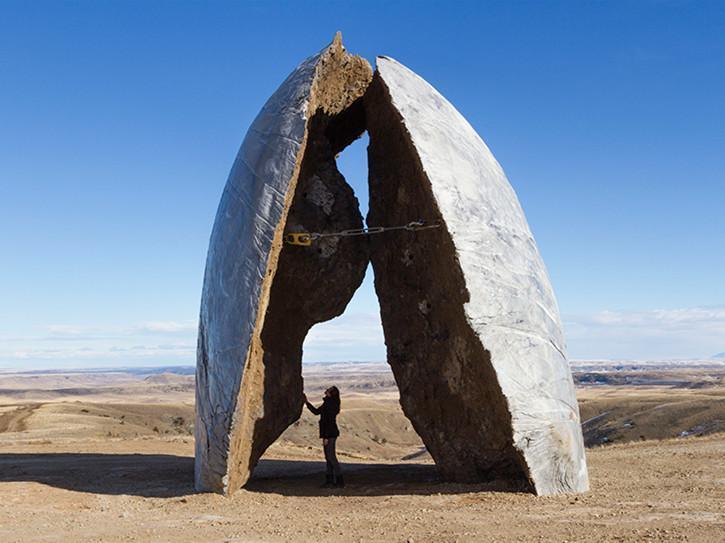 美国黄石公园披肩式艺术装置