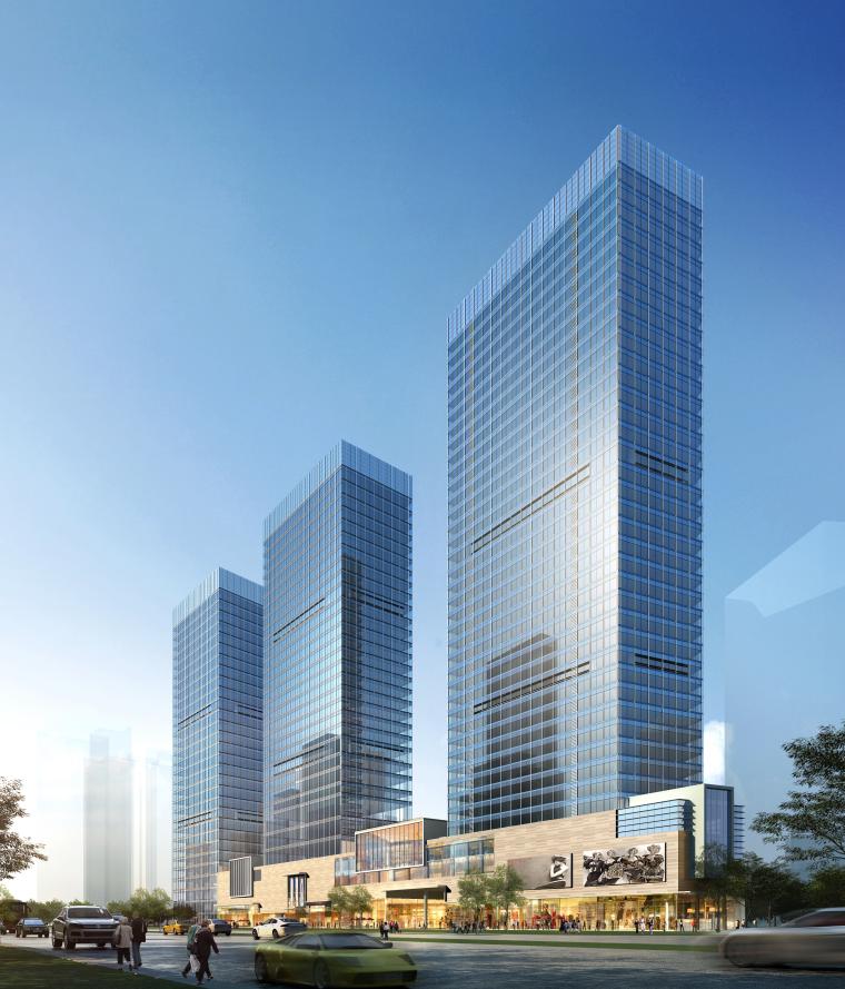 苏州协鑫广场办公楼、酒店式公寓幕墙施工图