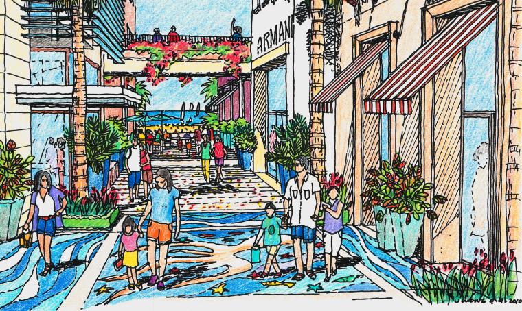 [海南]龙沐湾国际旅游度假村方案设计-效果图