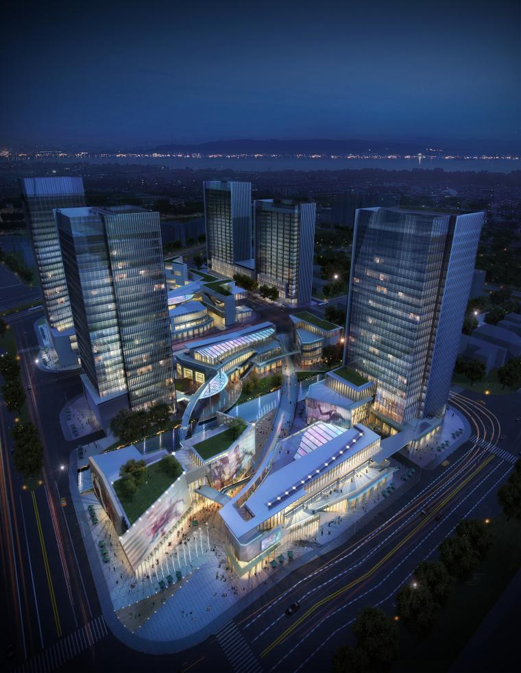 番禺基盛高层商业中心建筑规划设计方案文本(JPG+CAD+PDF)_3