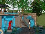 北京西山庭院庭院设计图资料免费下载