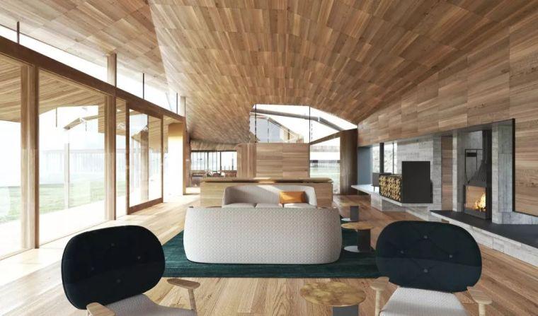 创意十足的顶级度假山庄设计,现代、自然、大气!_10