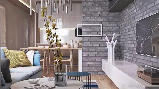 72㎡北欧复古风公寓设计,暖暖的都是爱