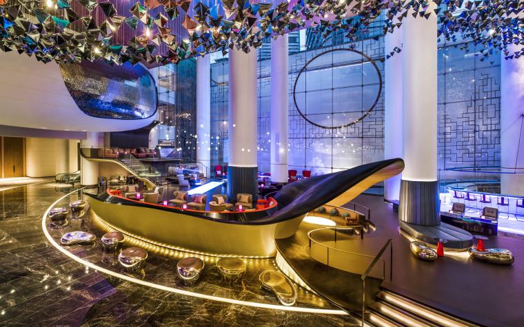 [江苏]苏州W酒店|建筑+室内装修效果图+公区客房区设计概念方案